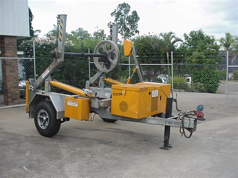 3 tonne cable trailer winch hire cable handling