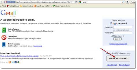 Buat Akaun Gmail Malaysia | mancis dah basah cara buat akaun email gmail