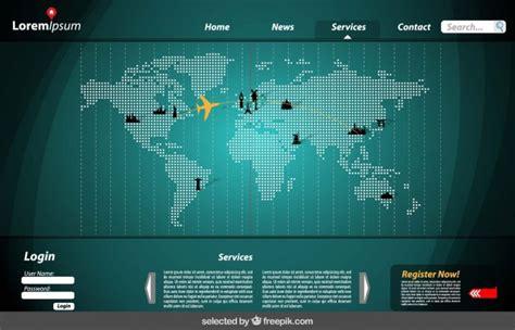 Kostenlose Vorlage ã Karte Website Vorlage Mit Karte Der Kostenlosen Vektor