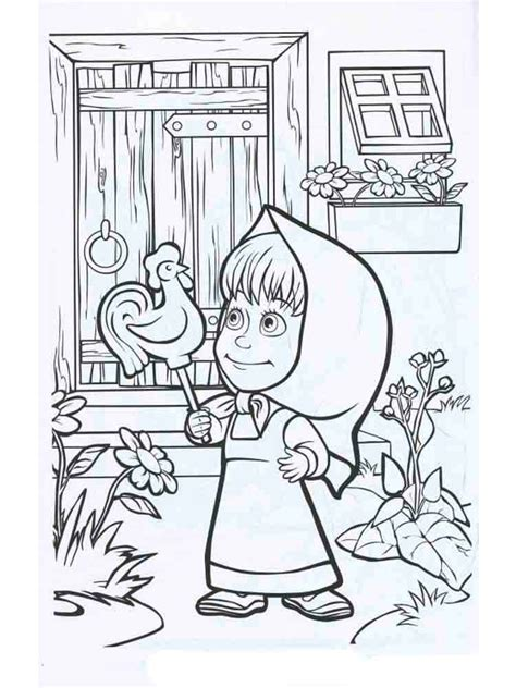 coloring pages masha and bear masha and the bear coloring pages download and print