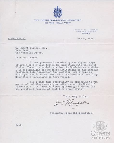 Royal Invitation Letter Exle Royal Visits Part Ii S Archives