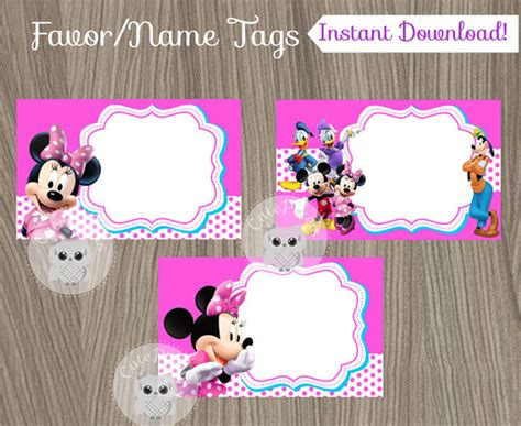 printable minnie mouse name tags minnie mouse favor tags minnie mouse name tags minnie