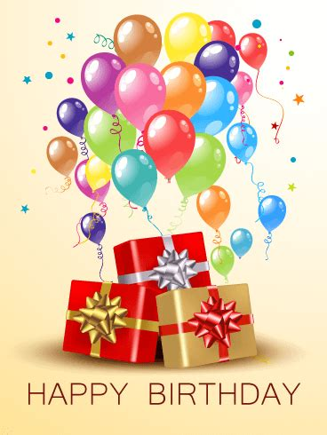 Birthday Card Pictures Birthday Balloons Gift Boxes Card Birthday Greeting
