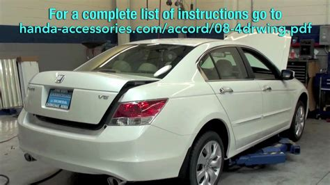 how to install a spoiler on a honda civic accord wing spoiler installation honda answers 12