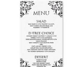 Free Wedding Menu Templates For Microsoft Word by Menu Templates Free Word Http Webdesign14