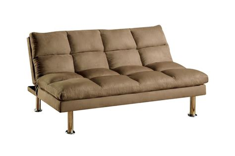plush futon sina plush tufted pillow top microfiber futon in light brown