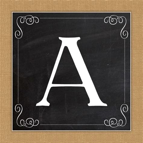 Free Printable Chalkboard Banner Numbers | free printable complete alphabet and number burlap and