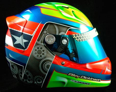 helmet design karting riley dickinson s arai sk 6 smart race paint helmet