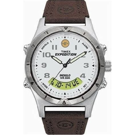 Expedition 6646mc Black Silver Leather For timex t446429j timex expedition collection leather watchallure