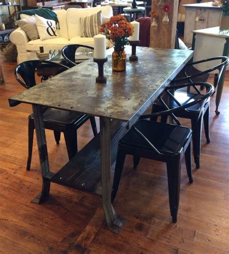 hammered metal table l metal dining table julian alonso table w hammered