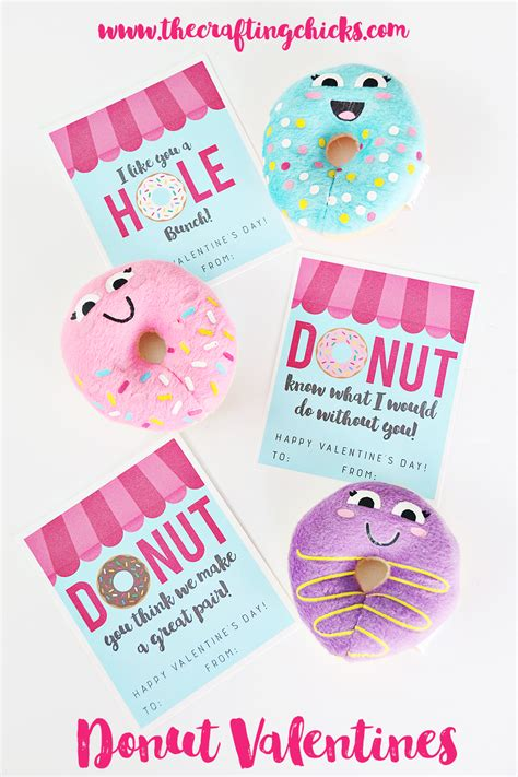 what to do for valentines donut printables the crafting