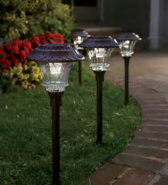 Outdoor Pathway Lighting Fixtures Plow Hearth Solar Path Lights Review 50 Gift Card Giveaway Must