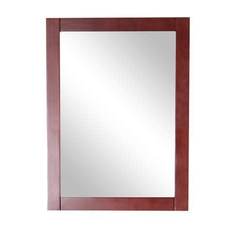 cherry bathroom mirror shop style selections clementon 27 4 in h x 20 3 in w