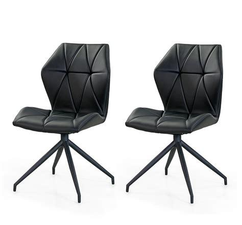 sitz h ngematte mit gestell esszimmerst 252 hle in schwarzem kunstleder mit schwarzem