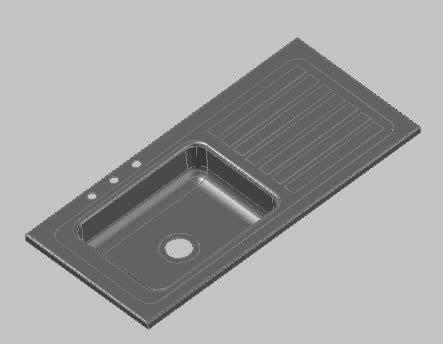 kitchen sink dwg model autocad designs cad