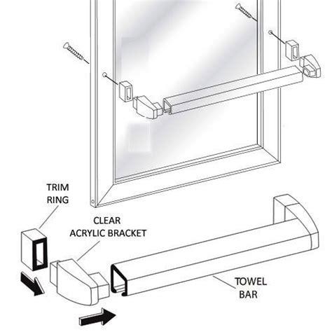 Sliding Shower Door Towel Bar Framed Sliding Shower Door Chrome Towel Bar With Clear Acrylic Brackets Ebay