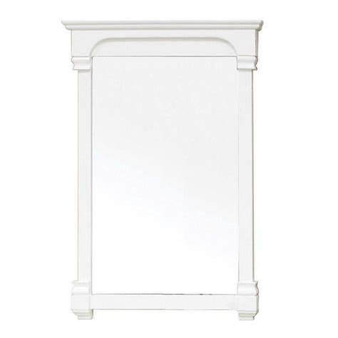 42 inch solid wood frame mirror cream white modern bellaterra home harmon 42 in l x 24 in w solid wood
