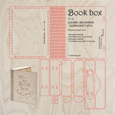 laser cut wood box template the world s catalog of ideas