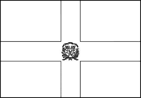 dominican republic flag free coloring pages