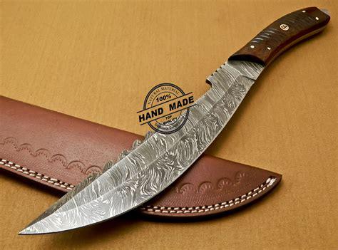 Handmade Cutlery - damascus bowie knife custom handmade damascus steel
