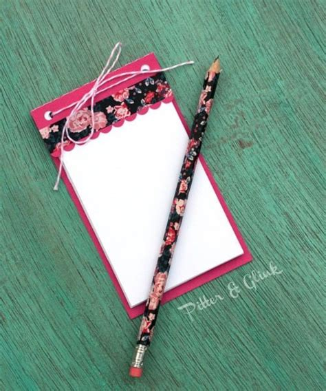 Handmade Notepads - 10 cool silhouette cameo project ideas