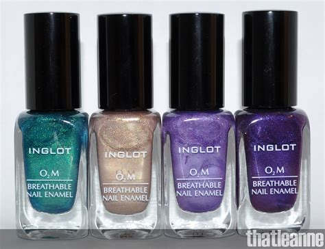 thatleanne inglot o2m nail swatches in 631 641