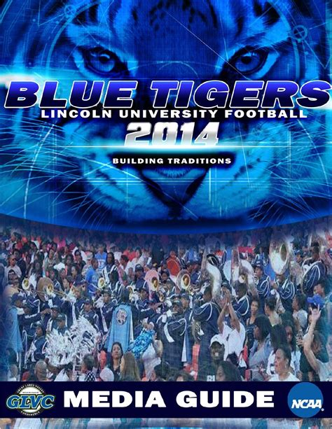 lincoln blue tigers football 2014 lincoln football media guide by lincoln