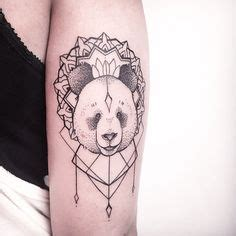 panda mandala tattoo by http instagram com yulia gobriy tattoo inspiration