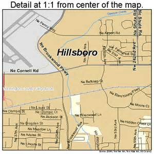 hillsboro oregon map 4134100