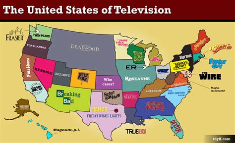 show me a map of united states of america the united states of television