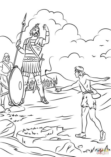 David and Goliath Fighting | Super Coloring | Раскраски