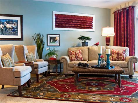 red and blue home decor traditional floral carpet for eclectic living room
