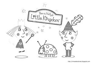 ben holly kingdom colouring pages