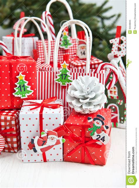 little gifts for christmas time royalty free stock photo