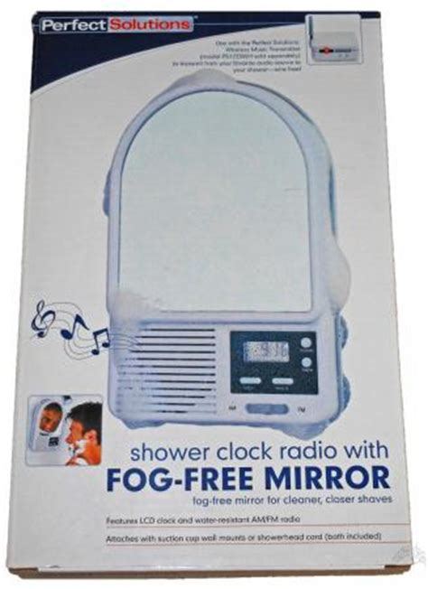clock radio for bathroom shower clock radio with fog free mirror water resistant