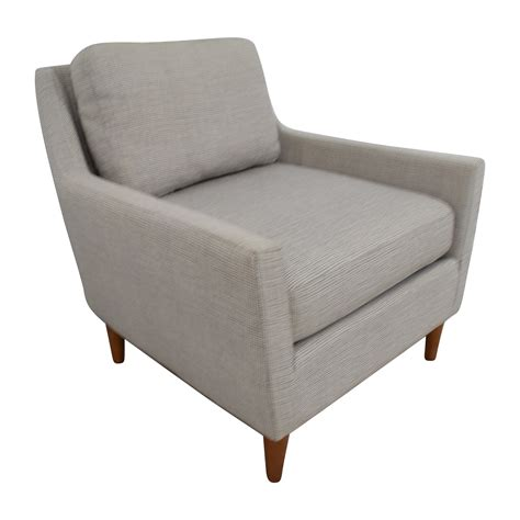 west elm chair with ottoman 66 off west elm west elm grey everett sofa chair chairs