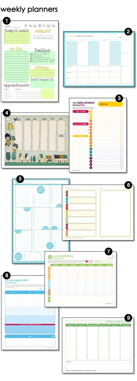 time to get organized get your free planner templates 9 weekly planners 0 excuses 171 howtostudy blog