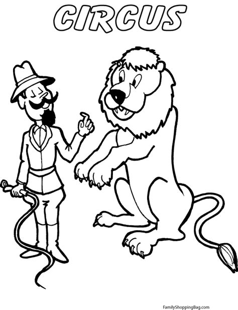 circus lion coloring pages circus lion coloring page