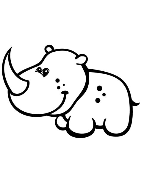 baby rhino coloring page cute baby rhino coloring page h m coloring pages
