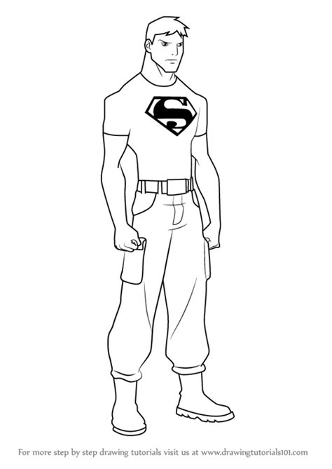 superboy pages coloring pages