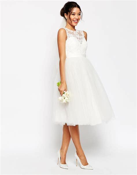 Tutu Style Wedding Dresses by Asos Bridal Lace Sweetheart Tutu Midi Dress White Fit And