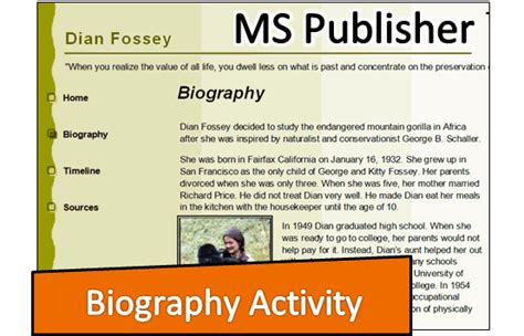 biography project for middle school students technokids computer curriculum technology projects