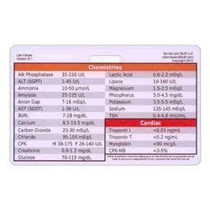 pocket reference card template 1000 images about learning lab values on lab