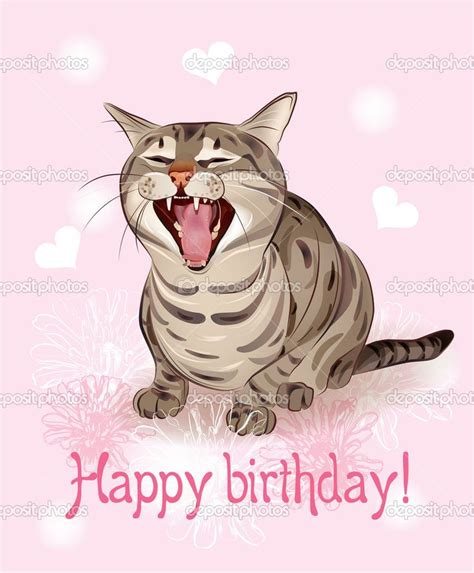 Happy Birthday Cat Card Free Happy Birthday Cat Greetings Happy Birthday Card