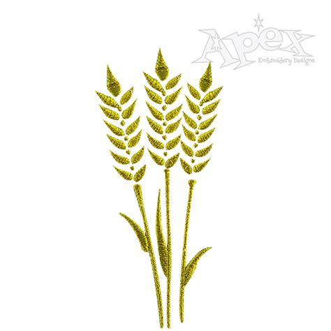 embroidery design wheat wheat fall harvest embroidery designs