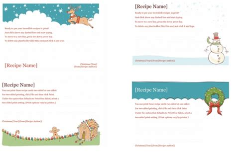Recipe Cards Maker Templates For Word 2013 Powerpoint Presentation Powerpoint Recipe Template
