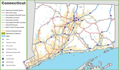 map usa connecticut map of connecticut roads arkansas map