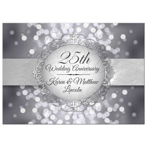 25th wedding anniversary invites 25th wedding