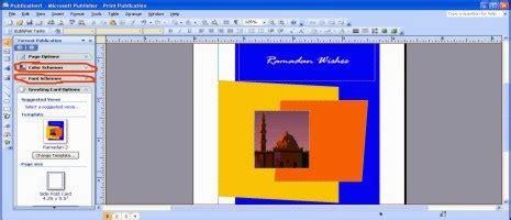 membuat kartu ucapan dengan microsoft publisher cara membuat kartu ucapan selamat ramadhan pada microsoft