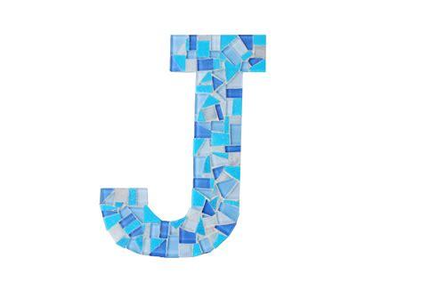 j a mosaic letter j